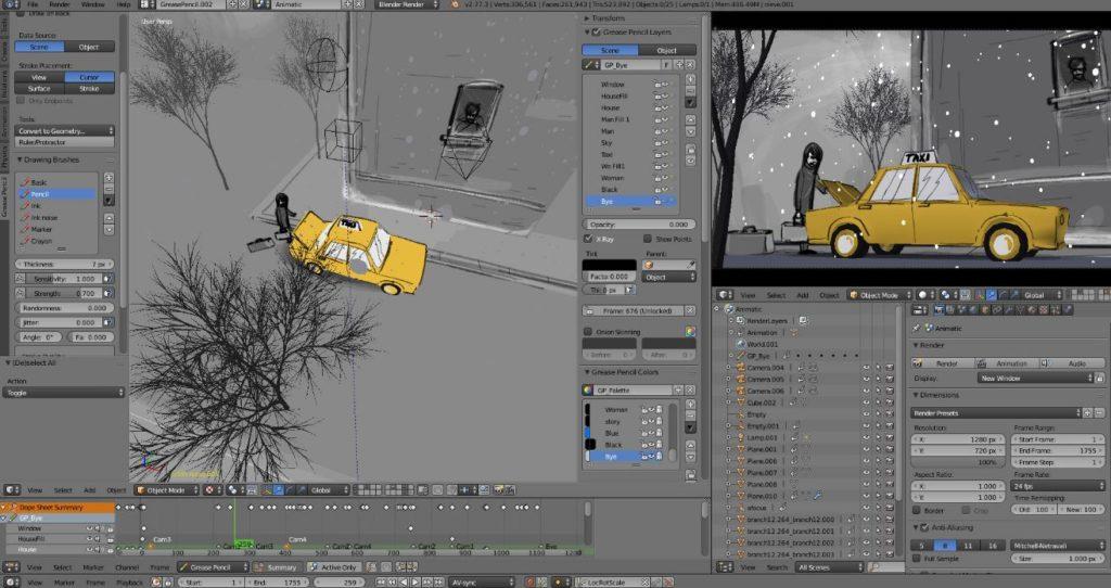 Blender Story Art 2D Grease Pencil