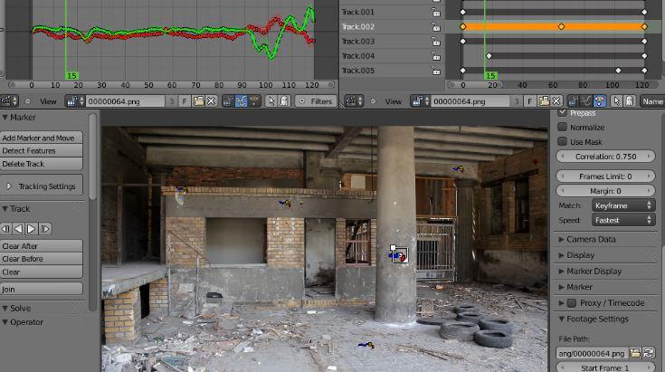 Blender VFX Camera Tracking